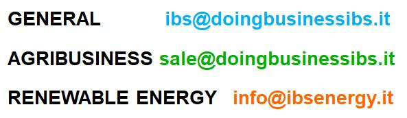IBS Renewable Energy Agribusiness email