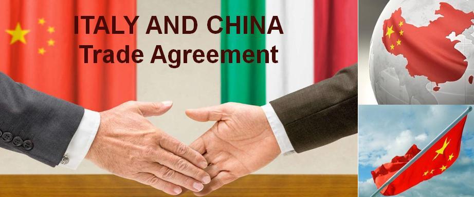 Italia e Cina accordi commerciali