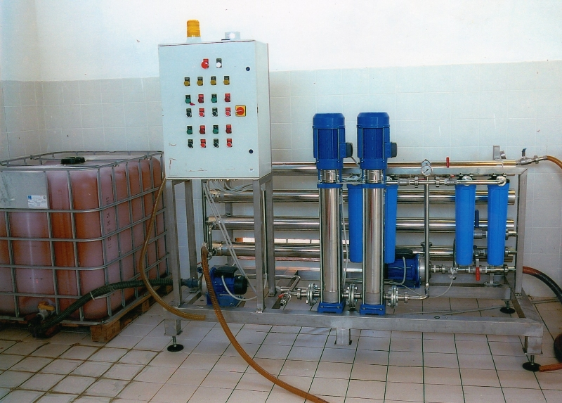 7. foto procedimento di osmosi inversa