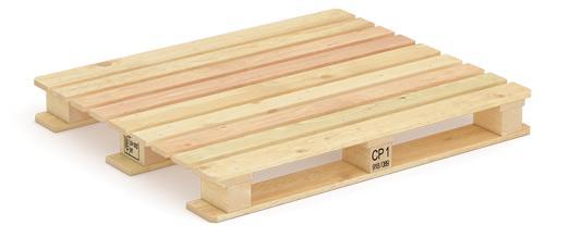 Pallet CP1 1000 x 1200 x 138 mm, peso 29,1 kg, capacità di carico 1000 kg