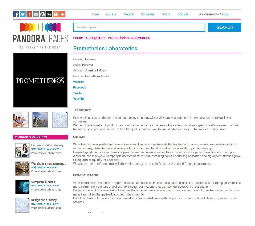 Pandora Trades B2B Company's Products 4