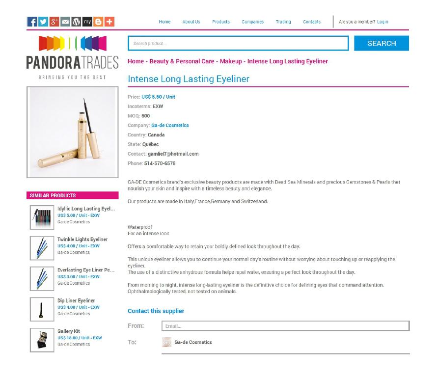 Pandora Trades B2B Products 2