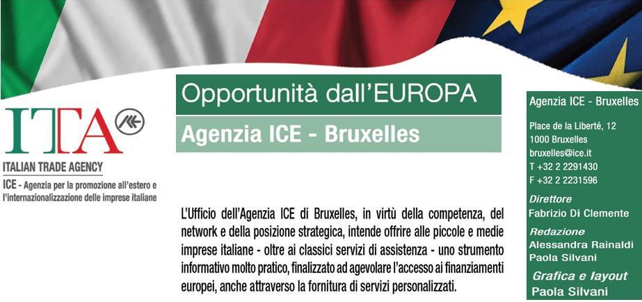 Agenzia ICE Bruxelles Opportunità dall'Europa