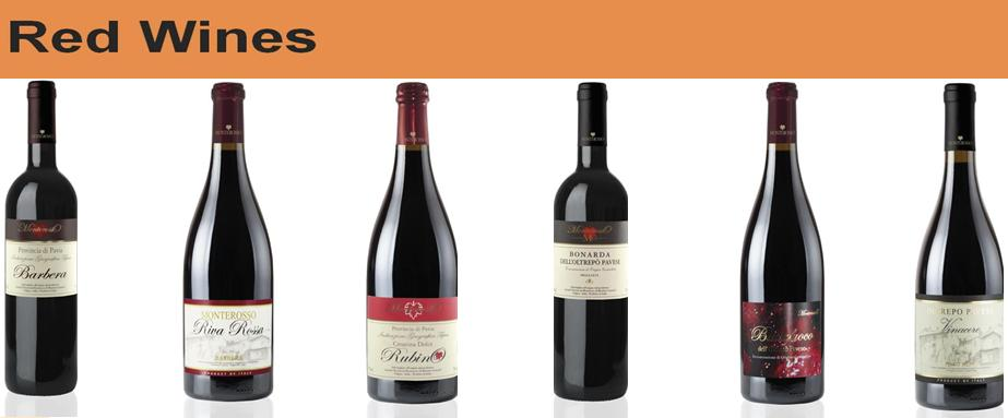 vini red wines - wine cellar