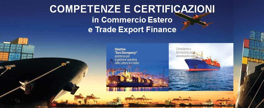 credito competenze trade export finance