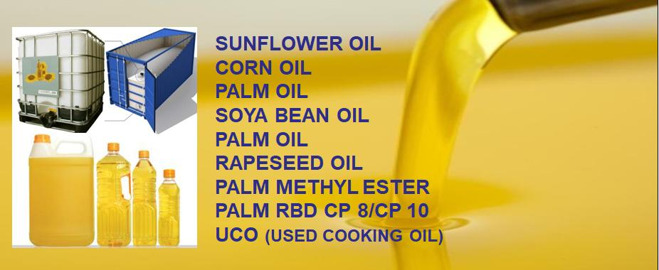 Oil Oils Sunflower Corn Palm Soya Rapeseed refined crude