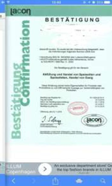 oil - lacon quality certification