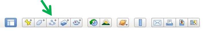 Google Earth menu in alto