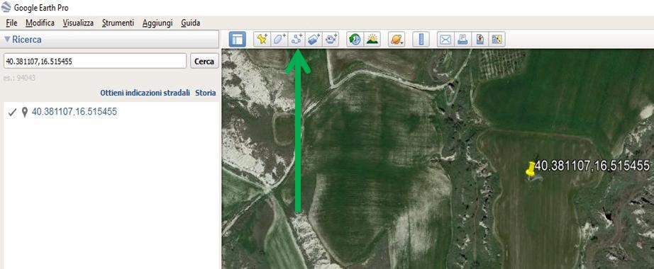 Google Earth tracciare perimetro sito
