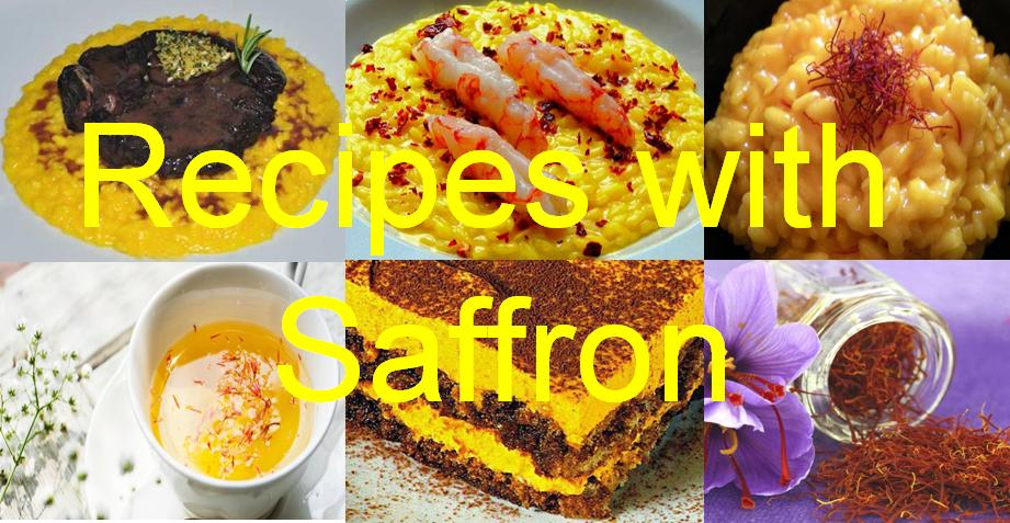 Saffron Crocus Sativus in the kitchen for Cooking