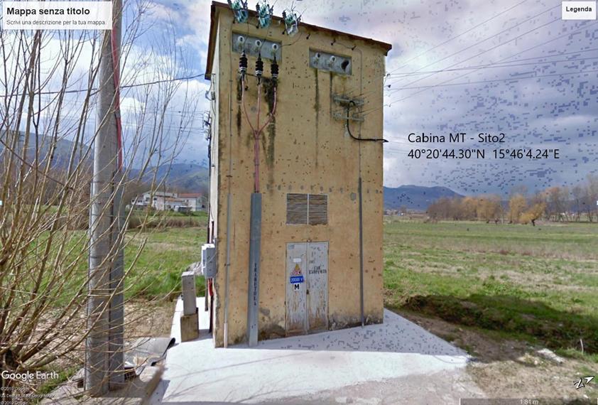 Cabina elettrica Media Tensione con coordinata