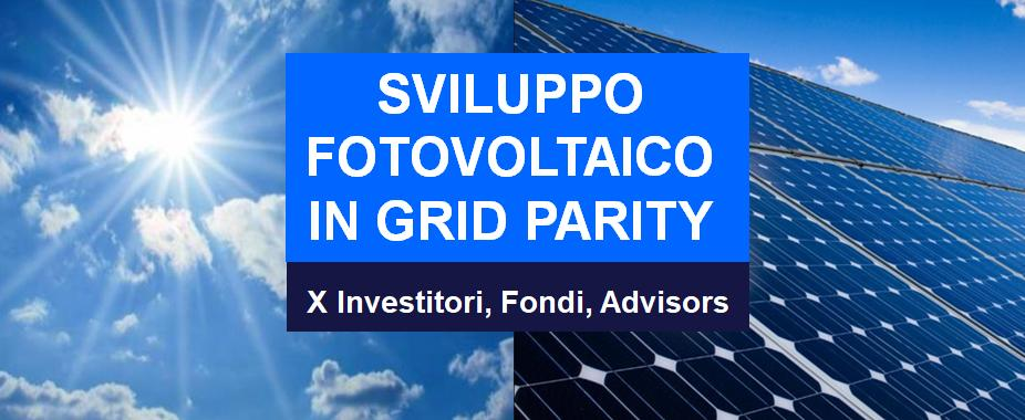 Sviluppo Fotovoltaico Grid Parity