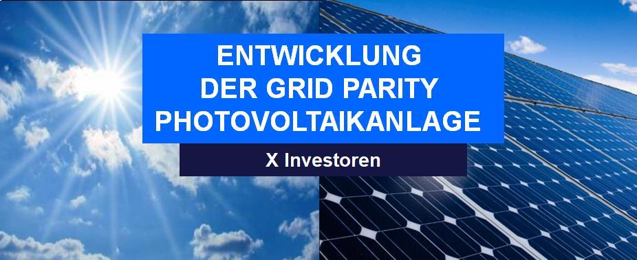 DE PHOTOVOLTAIK entwicklung der grid parity photovoltaikanlage