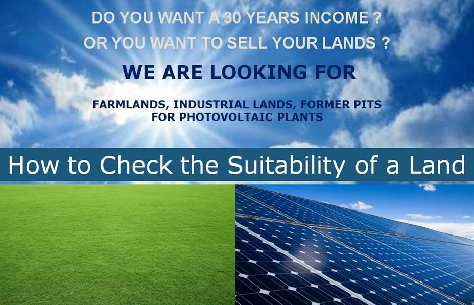 EN Lands suitability for photovoltaic plants