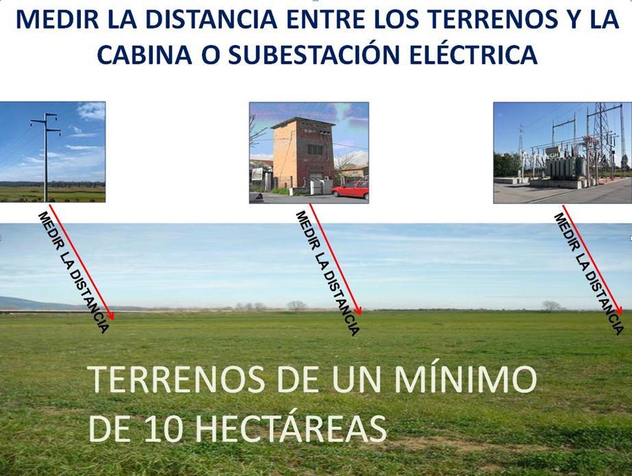 ES terrenos Grid Parity mínimo de 10 hectáreas def