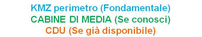 Terreni, KMZ, cabine di media tensione, CDU certificato di destinazione urbanistica