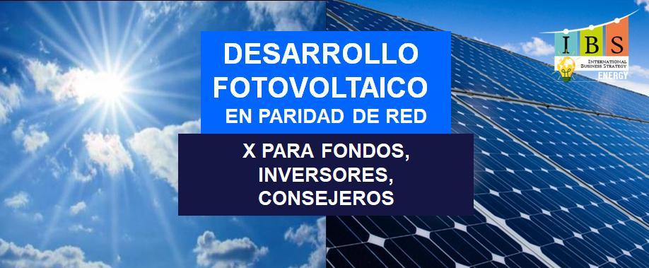 desarrollo fotovoltaico para fondos, inversores, consejeros